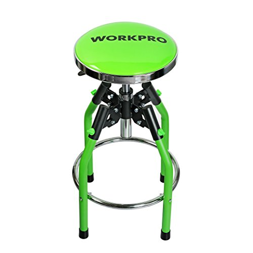 (WORKPRO W112009A Heavy Duty Adjustable Hydraulic Shop Stool,)