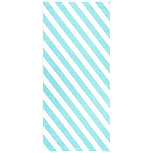 Soopat Beach Towel,Abstract Blue Stripes White Pattern Stripe Pattern Diagonal Gift Wallpaper 30x60 Inch Outdoors Sand Free Beach Blanket for Travel Sports Beach Yoga Water Park