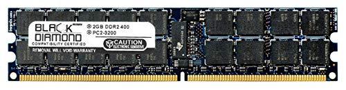 2GB RAM Memory for Compaq ProLiant ML370 G4 240pin PC2-3200 DDR2 ECC Registered RDIMM 400MHz Black Diamond Memory Module Upgrade ()