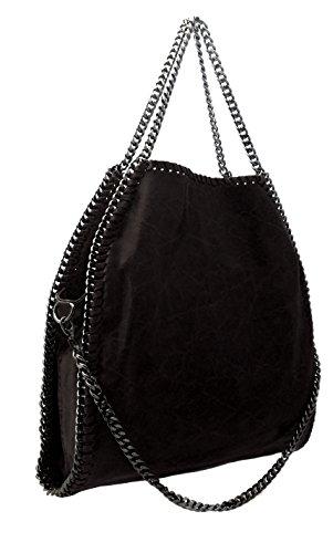 borsa nera con catene