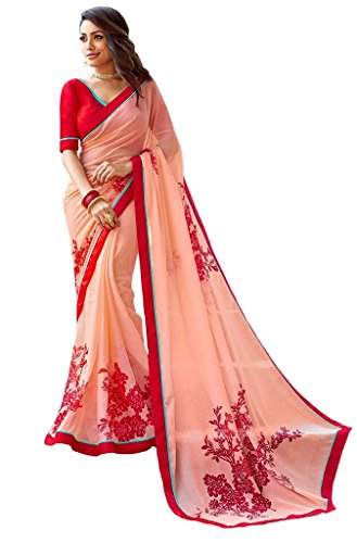 Jay Sarees Most Beautiful Georgette Designer Saree with unstitched blouse -v3406 by JAY SAREES