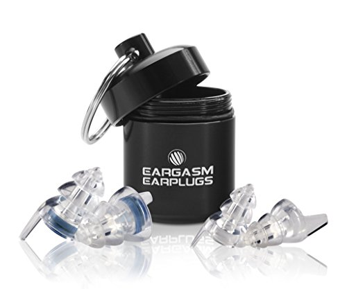 Eargasm Smaller Ears Earplugs for Concerts Musicians Motorcycles Noise Sensitivity Disorders and More! Two Different Sizes Included to Accommodate Smaller Ear Shapes! by Eargasm