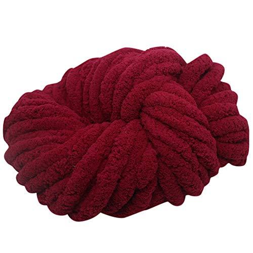Cotton Chenille Knitting Yarn - Chunky Yarn for Crochet 250g Hand Knitting Chenille Yarn DIY Super Soft Chunky Knitting Wool Yarn Perfect for Knitting Sweater Hats Scarf 1PC (K)