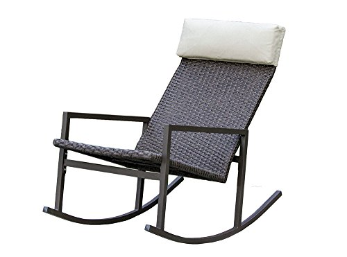 Living Express Stone Harbor Outdoor Rattan Wicker Rocking Chair (Outdoor Rocking Chairs Cheap)