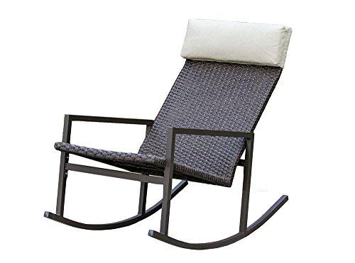 Living Express Stone Harbor Outdoor Rattan Wicker Rocking Chair (Outdoor Rocking Chairs Cheap)