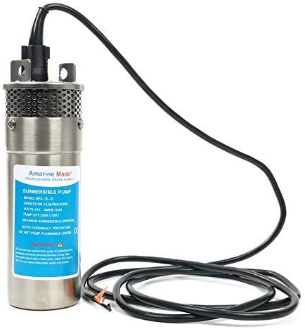 Submersible Pump Industrial Accessory Single Suction DC12V with 2PI10 Meter Wire for Water DC Deep Well Submersible Pump