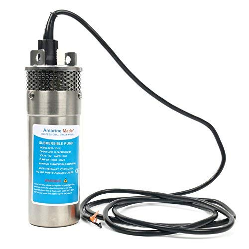 Amarine-made 12V Stainless Shell Submersible 3.2GPM 10A Deep Well Water DC Pump/Alternative Energy Solar Battery