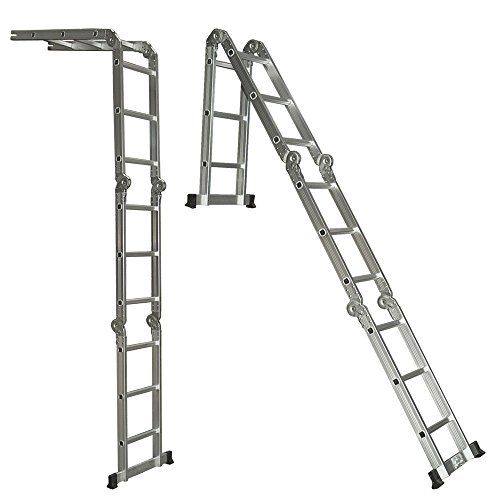 Angelwing Aluminum Ladder Folding Step Ladder Scaffold Extendable Multi Purpose (Online Quilt Buy Covers Cheap)
