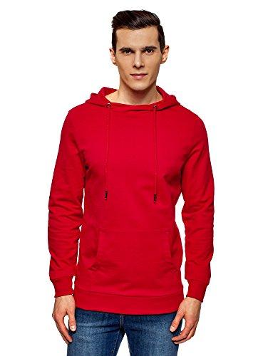 Bolsillo Rojo Básica Hombre Ultra 4500n Sudadera Oodji Con TwF18fq