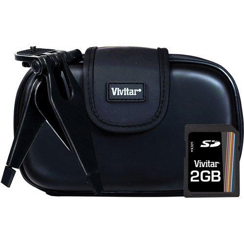 Vivitar SK425 Kit - Eva Case, Tripod, and Memory Card (Black)