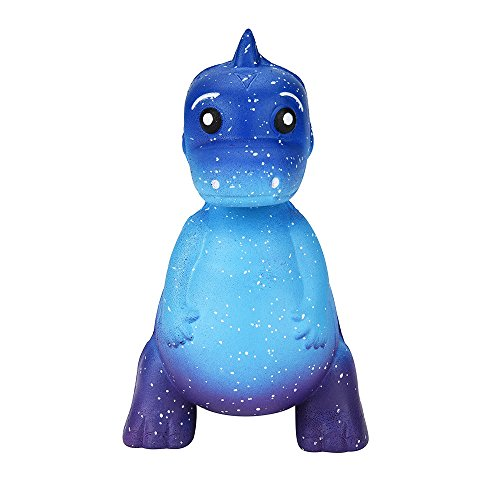 Stress Relief Toys - Galaxy Dinosaur - Cream Scented Charm Slow Rising Doll Rebound Toys - Birthday Holiday Party Favors for Kids Adults - Stress Ball (Blue) -