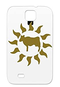 Anti-scuff Cow Sun Protective Case For Sumsang Galaxy S4 Miscellaneous Animals Nature Brown TPU