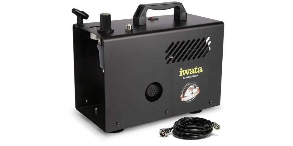Compresor silencioso Iwata IS-925 POWER JET LITE para aerografo: Amazon.es: Bricolaje y herramientas