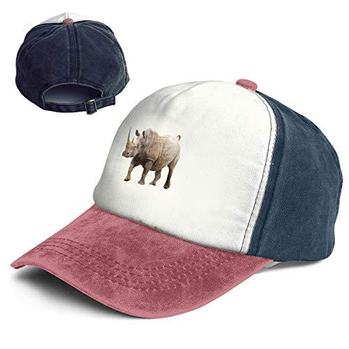 Rhino Wild Animal Top Level Unisex Quick Dry Sun Cap Outdoor Sports Baseball Caps Classic Adjustable Plain Hat