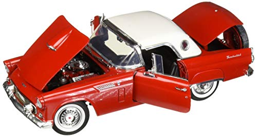18 White Diecast Car - Motor Max 1:18 American Classics 1956 Ford Thunderbird White Top Red Diecast Vehicles