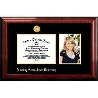 Image of Campus Images Bowling Green State 9w x 7h Gold Embossed Diploma Frame with 5 x7 Portrait Diploma Frames