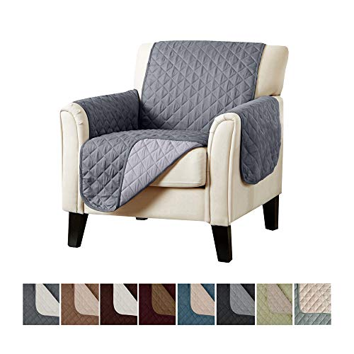 Home Fashion Designs Reversible Chair Cover. Furniture Covers for Living Room with Secure Straps. Furniture Protectors for Kids, Dogs and Pets. (24