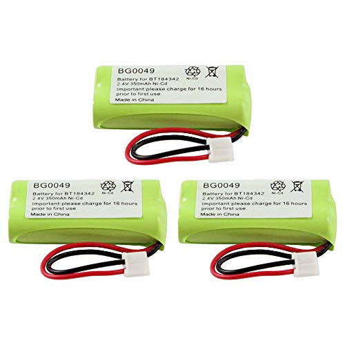 Phone Nicad Cordless - WalR Rechargeable Cordless Phone Battery Ni-CD, 3 Pack, for V-Tech 6052 6053 6110 6111 6113 6121 6122 6201 6204 6205 6209 6211 6215 6219 6221 6222 6225 6226 6228 6229 6245 6301 6321 6322