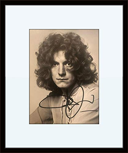 (Framed Robert Plant Autograph with Certificate of Authenticity)