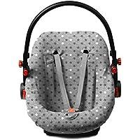 Briljant Baby Funda de repuesto para portabebés 0+, apta para Maxi Cosi, Römer y Morris con estrellas, color gris
