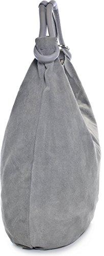 marrón para CNTMP mujer Grau Hellgrau cuero Bolso de hombro al HHRfCTq0