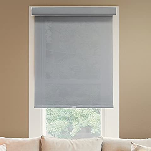 Chicology Deluxe Free-Stop Cordless Roller Shade, Fabric - Light Filtering, Privacy - Pebble, 30