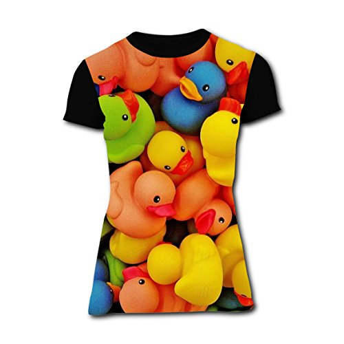 Rubber Duck Costume Ideas (T-shirts Tee Shirt for Women Tops Costume Colors Rainbow Rubber Duck 3XL)