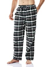 CQR Men's Pajamas 100% Cotton Sleep Soft Lounge Flannel Pants