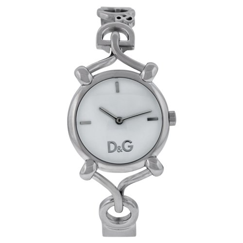 D&G Dolce & Gabbana Women's DW0683 Stainless Steel Analog with White Dial Watch