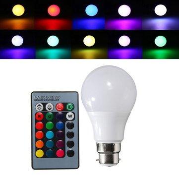 B22 Led Bulbs - B22 3w Dimmable Rgb Color Changing Led Light Lamp Bulb Remote Control Ac85-265v - Color Bulb Remote Changing Light Bulbs Lights Colored - Led - 1PCs