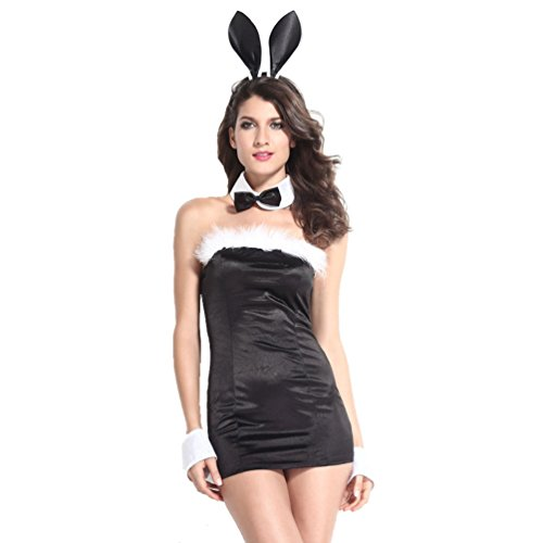 Honeystore Women's Naughty Bunny Girl Lingerie (Girls Snow Bunny Costume)