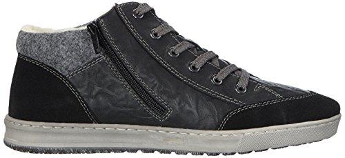 Rieker B3023 - zapatillas deportivas altas de material sintético hombre negro - Schwarz (schwarz/schwarz/granit / 00)