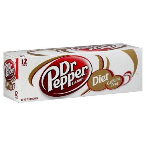 (Dr. Pepper Soda, Diet Caffeine Free Fridge Pack -2 Packs)