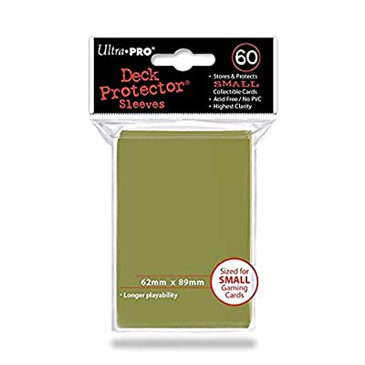 Ultra Pro 60 Small Metallic Gold Deck Protector Sleeves: Toys & Games