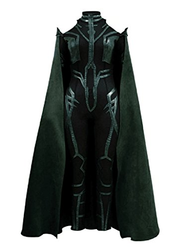 Xiao Maomi Womens Cosplay Costume Green PU Sexy Jumpsuit Cloak for Halloween (S, Full Set) -