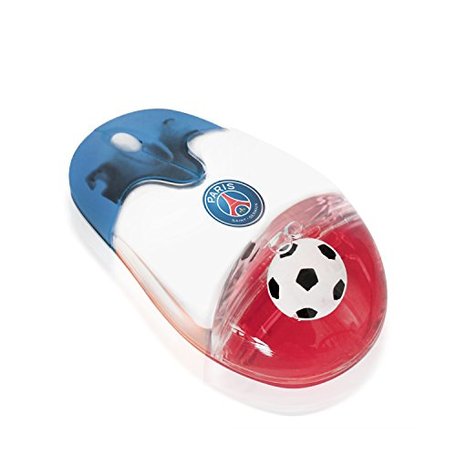 Plutus Luxury Soccer Gift 2.4G Wireless Mouse with USB Nano Receiver Optical Durable Comfortable, Ball in Liquid French A League, PSG Logo, Computer PC Laptop Futbol Fan Unique Uncommon Gaming(Paris) from Plutus Luxury