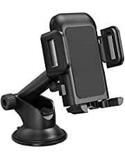 Car Phone Holder, Car Mount, Dashboard Windscreen Car Phone Mount, Universal Car Cradle with One Button Release&Strong Sticky Gel Pad for iPhone 13/12 Pro Max/11/XS/XR/X/8/7,Galaxys 20 10 9, HTC, etc