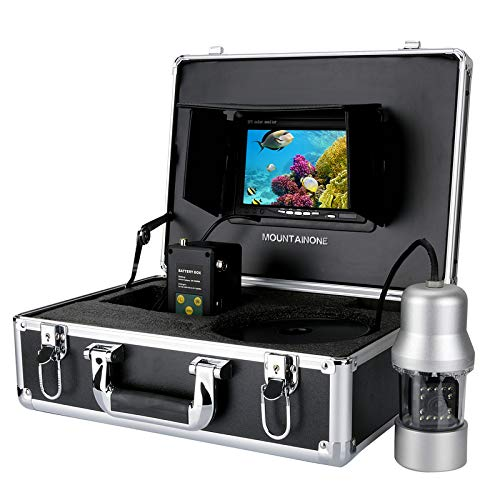 MAOTEWANG 20M 1/3 Inch SONY CCD Underwater Fishing Camera - 360 Degree View, Remote Control, 7 Inch LCD Monitor, 14x White Lights