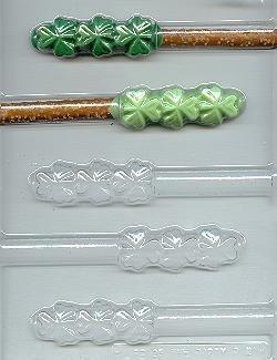 Shamrock Pretzel Rod Candy Mold (Chocolate Mold Rod Pretzel Candy)
