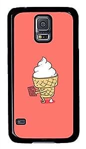 Mr Funny Ice Cream PC Black Hard Case Cover Skin For Samsung Galaxy S5 I9600