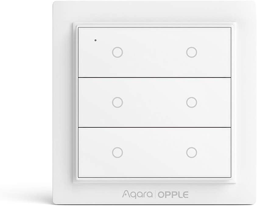 Para Xiaomi Mijia Aqara Opple Wireless Smart Scene Switch,Wi-Fi Interruptor y Mando Inalámbrico ZiGBee Version, Wireless Remote Control Home Kit de para Mi Home Homekit (6 buttons)