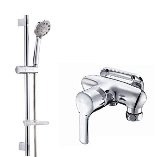 - Bathroom copper wall mounted exposed pipe taps/Wall mounted hot and cold faucet/Shower mixing valve-D