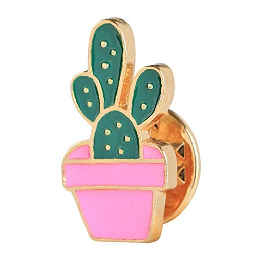 Hosaire Brooch Pin Women's Cute Flowers Cactus Scarf Pin Lapel Brooch Sweater Pin Style 2