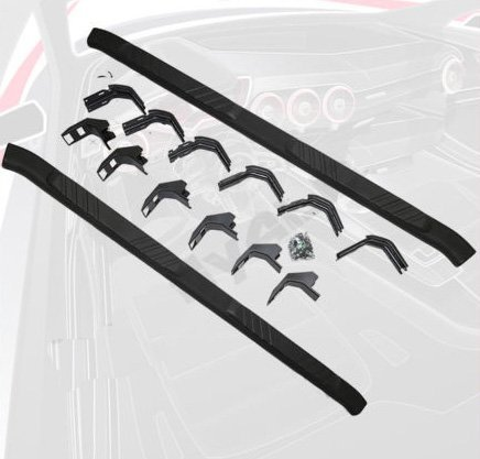 99-15 Ford F250 Crew Cab BLACK Nerf Bars Pair Set Side Step OE Style 5