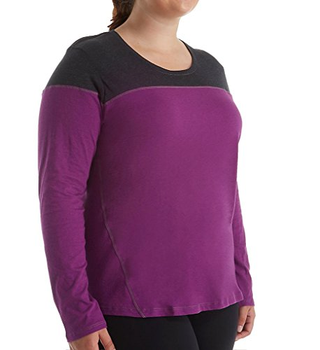 Columbia Women's Plus-Size Everything She Needs II Long Sleeve, Plum, 2X