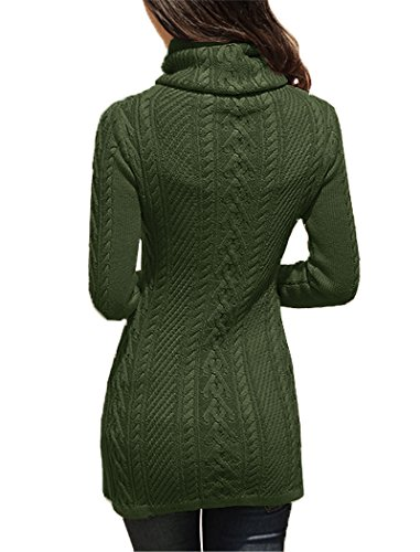 7d41595442 v28 Women Polo Neck Knit Stretchable Elasticity Long Sleeve Slim Sweater  Jumper