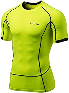 Tesla Men's Cool Dry Compression Baselayer Short Sleeve T Shirts MUB13/MUB03