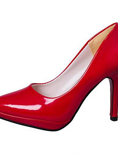 GGX/Damen Schuhe Stiletto Heel Heels Heels Office & Karriere/Kleid Schwarz/Pink/Rot/Weiß/Silber white-us6.5-7 / eu37 / uk4.5-5 / cn37