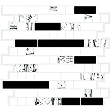 """Cocotik Peel and Stick Vinyl Sticker Kitchen Backsplash Tiles, 10.5"""" x 10"""" Marble Design, Pack of 10"""