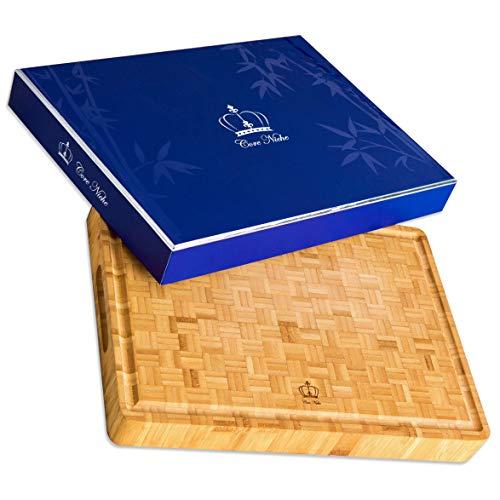 Tabla de cortar de bambú grande y orgánica, multiusos, respetuosa con el medio ambiente, superficie saludable para...